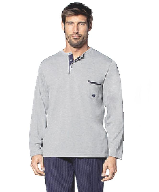 Pijama Guasch de Algodón con pantalón de tela azul