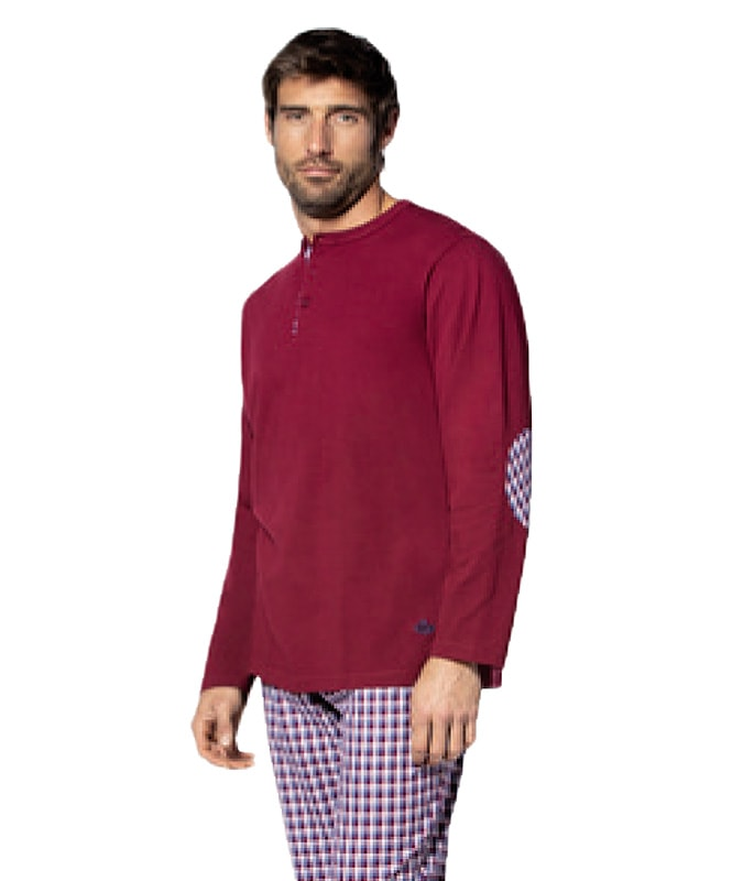 Pijama Guasch de Algodón con pantalón de tela cuadritos