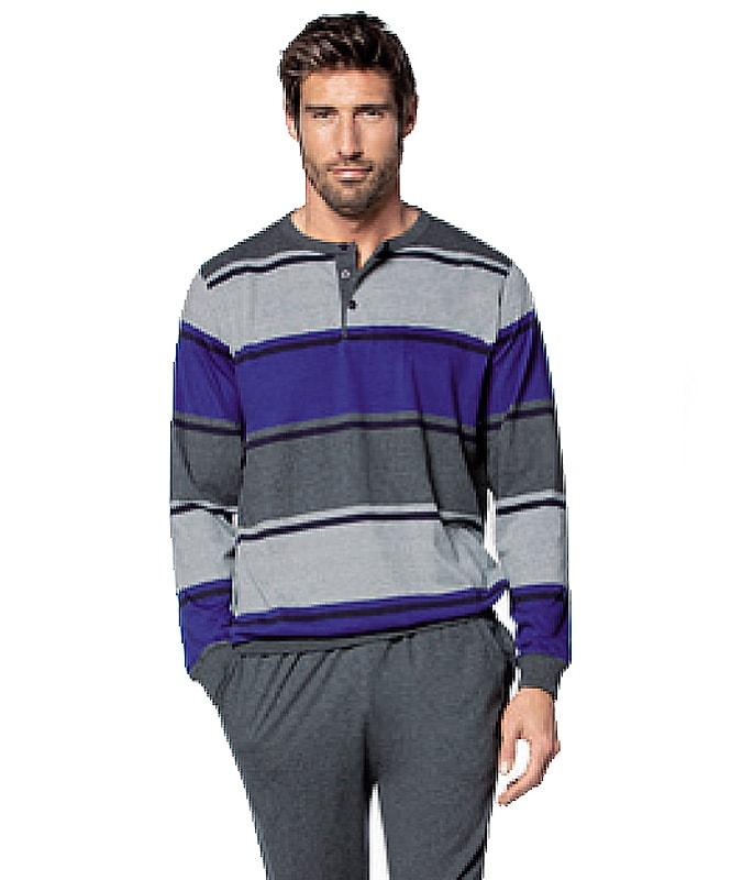 Pijama hombre Guasch de Algodón tricolor con puños