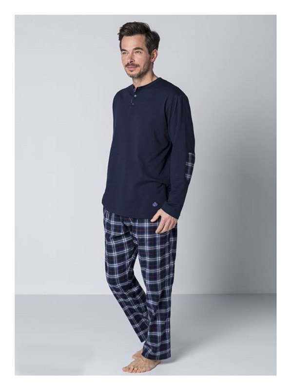 Pijama Guasch Algodón Villela Azul
