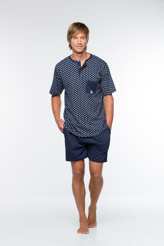 Pijama Guasch Tapeta Algodón Azul Marino