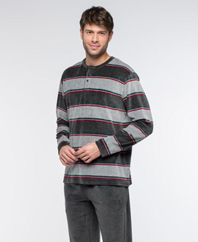Pijama Guasch en Terciopelo gris