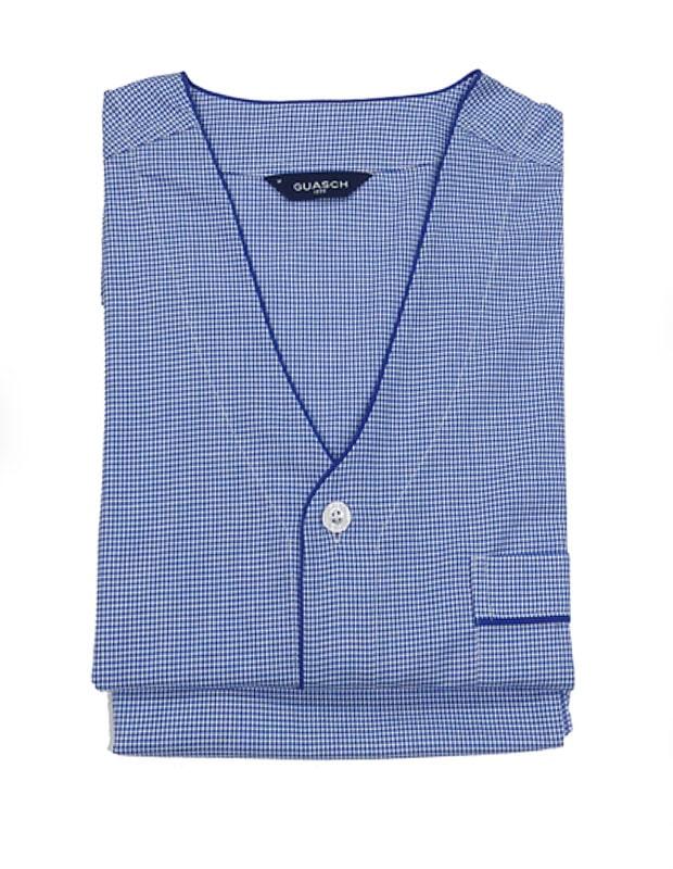 Pijama Guasch de Verano en Tela azul marino y blanco