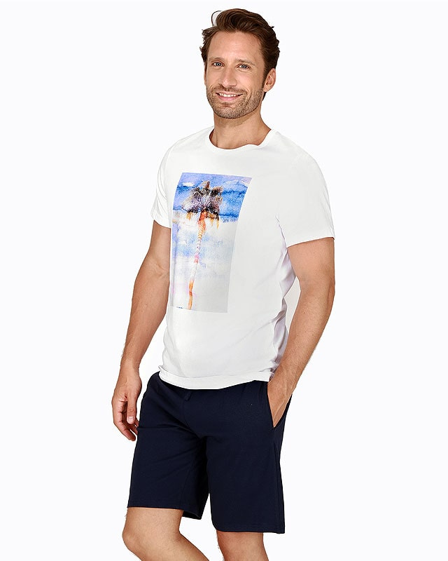 Pijama Hom Island White en algodón
