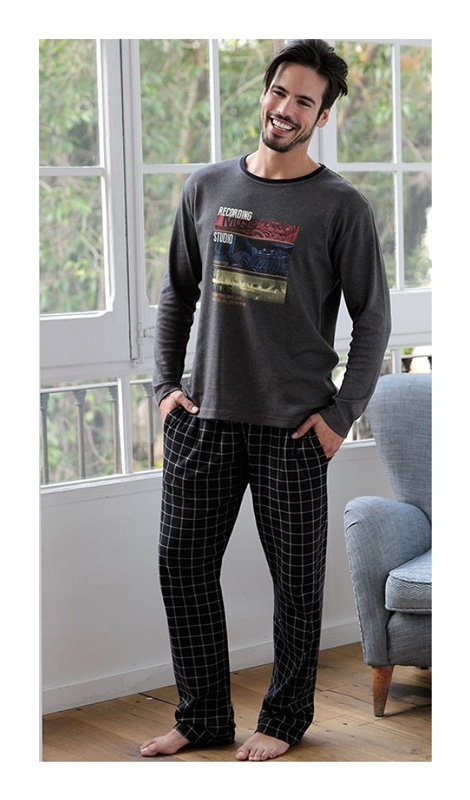 Pijama hombre Massana Algodón, Marengo