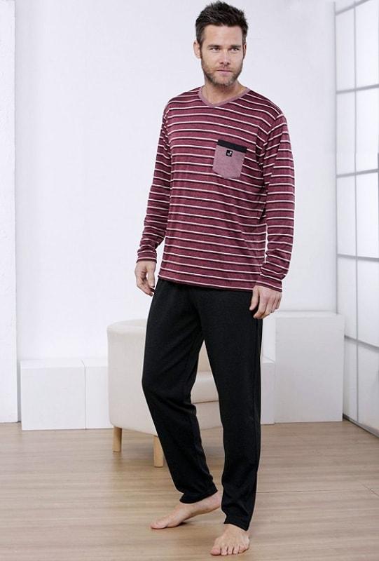 Pijama Massana Cuello Pico Listado