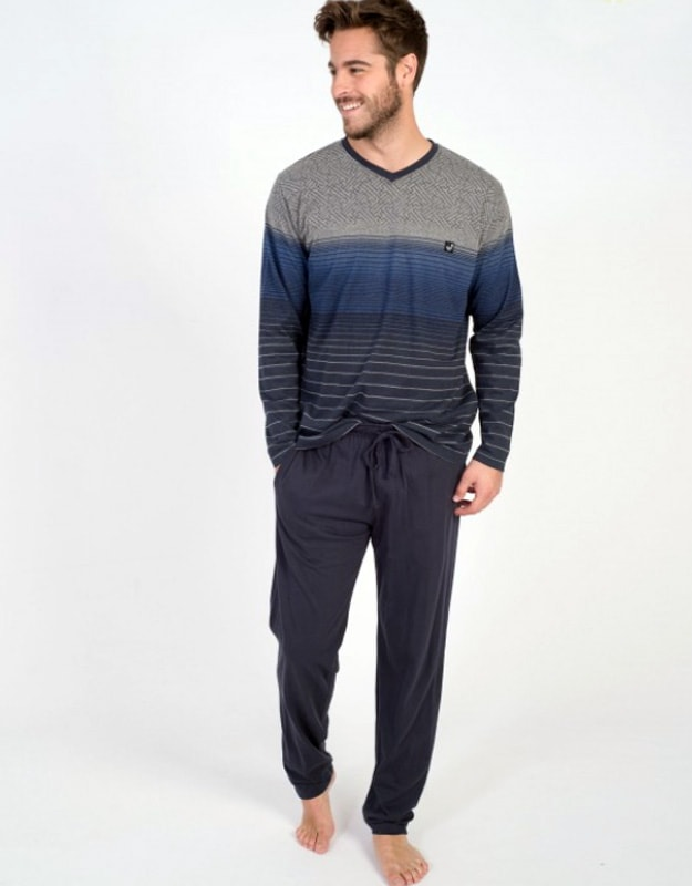 Pijama Massana Listas Marino
