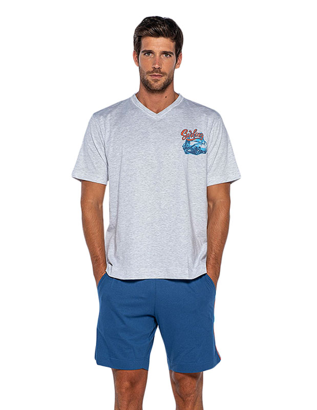 Pijama Punto Blanco mod. Longboard en algodón