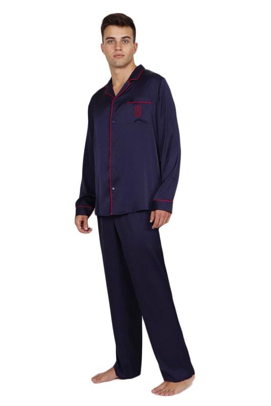 Pijama Admas de Raso en azul marino