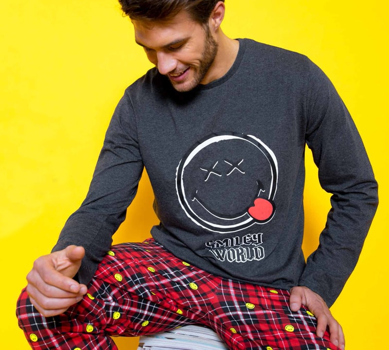 Pijama Smiley World gris marengo
