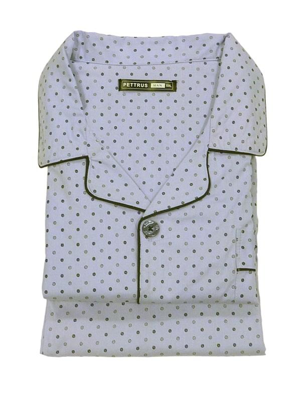 Pijama camisero Pettrus Man en Tela de Algodón