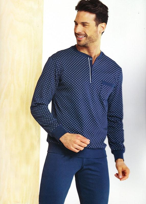 Pijama Vilfram de Algodón con puños con topitos
