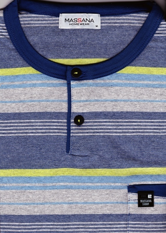 Pijama Massana, Azul Listado