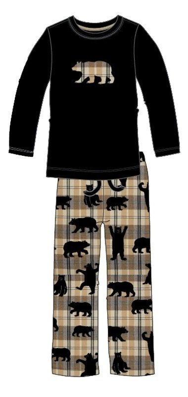 Hatley Pijama Bears on Plaid