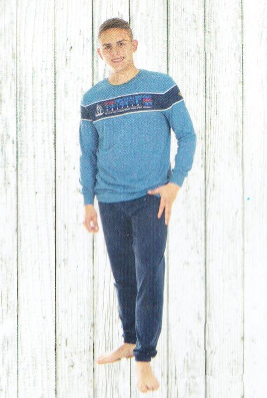 Pijama Privata de Algodón en Azul