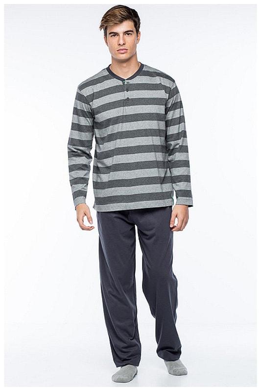 Pijama Punto Blanco Hombre Catalist en Algodón