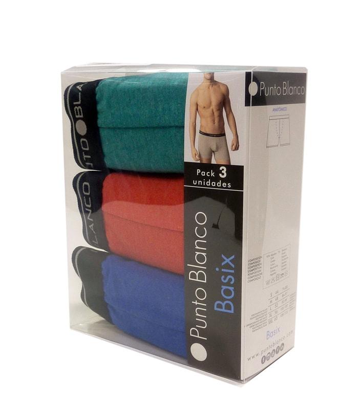 3 Pack Punto Blanco Boxer Basix VTA