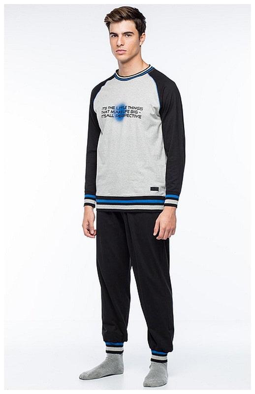 Pijama Punto Blanco Hombre Unplug en Algodón