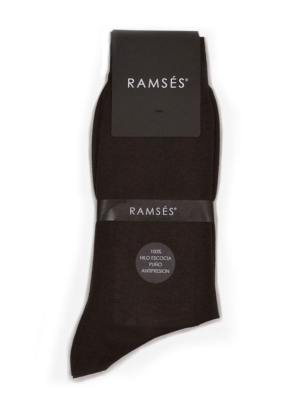 Calcetín Ramsés Hilo de Escocia marrón