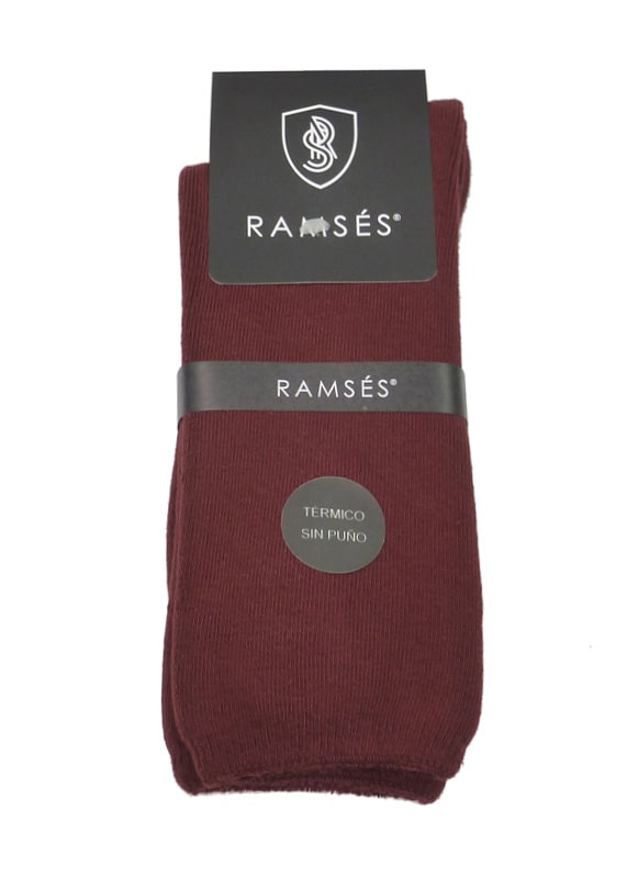 Calcetines Térmicos Ramsés sin puño en granate