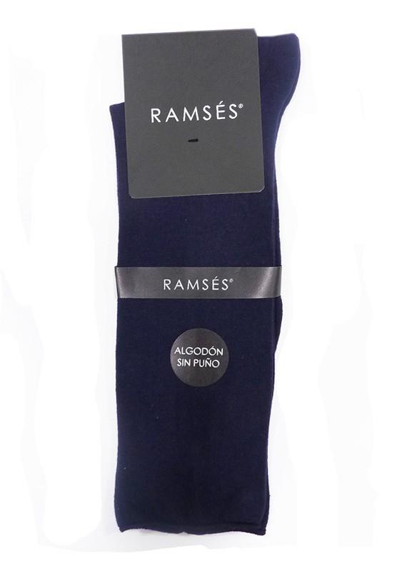 Calcetín Ramsés Algodón sin puño azul (talla 36/41)
