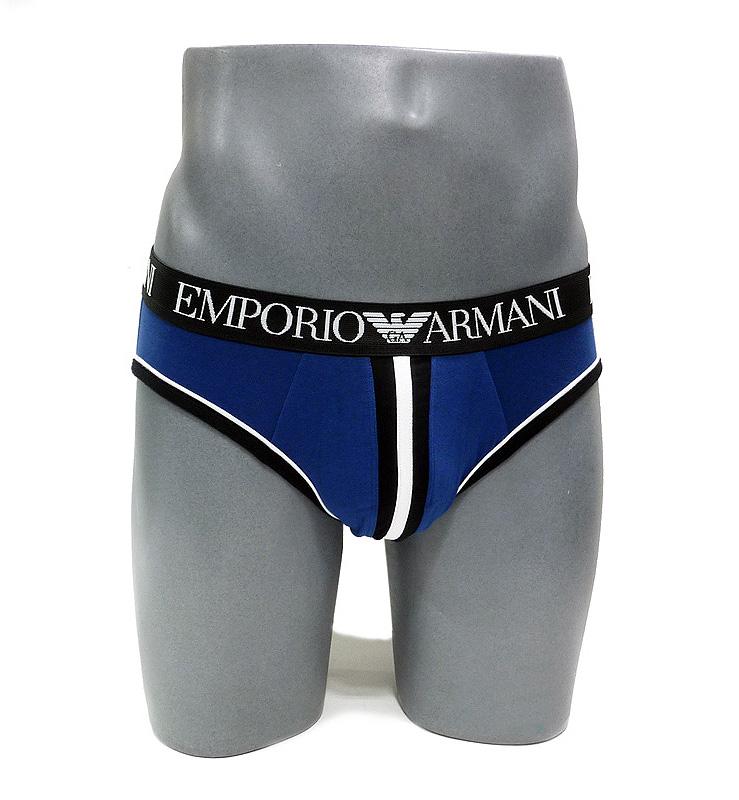 Slip Emporio Armani en Algodón Az. Marino
