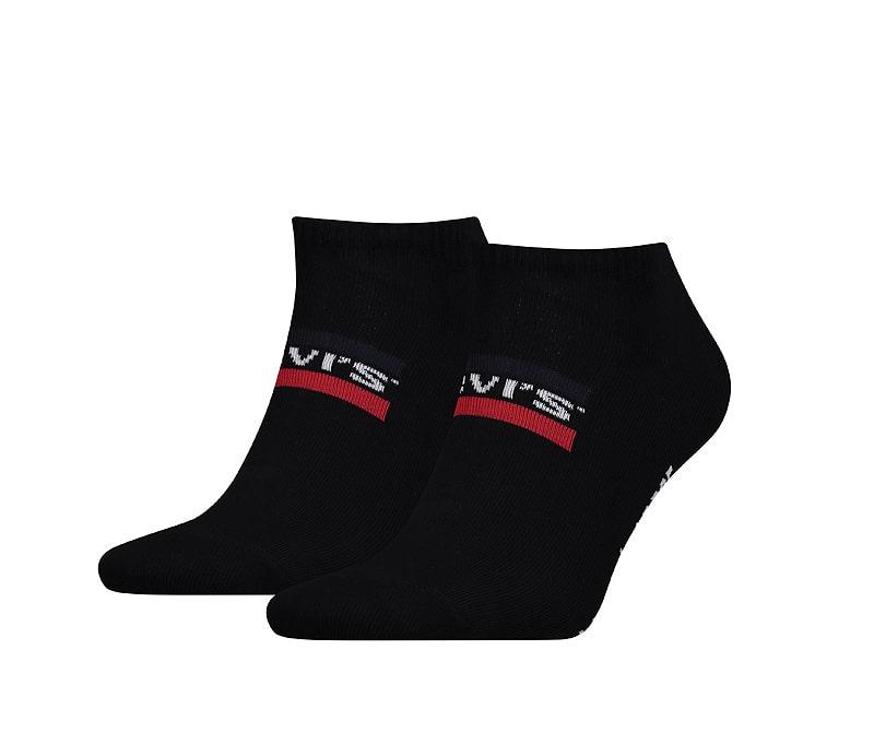 2 Pack de Calcetines Levi´s Tobillero Bajo en Negro