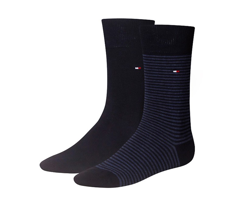 2 Pack Calcetines Tommy rayas marino