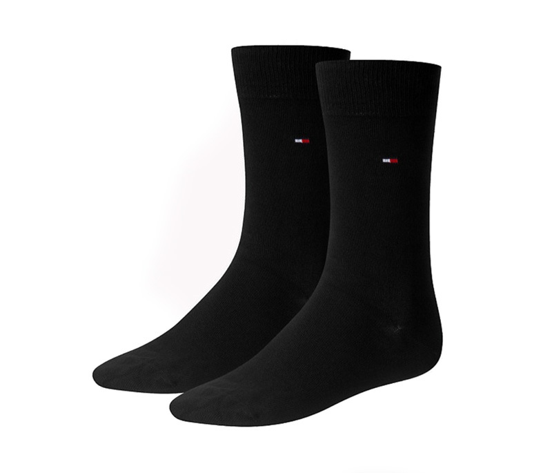 2 Pack Calcetines Tommy en negro