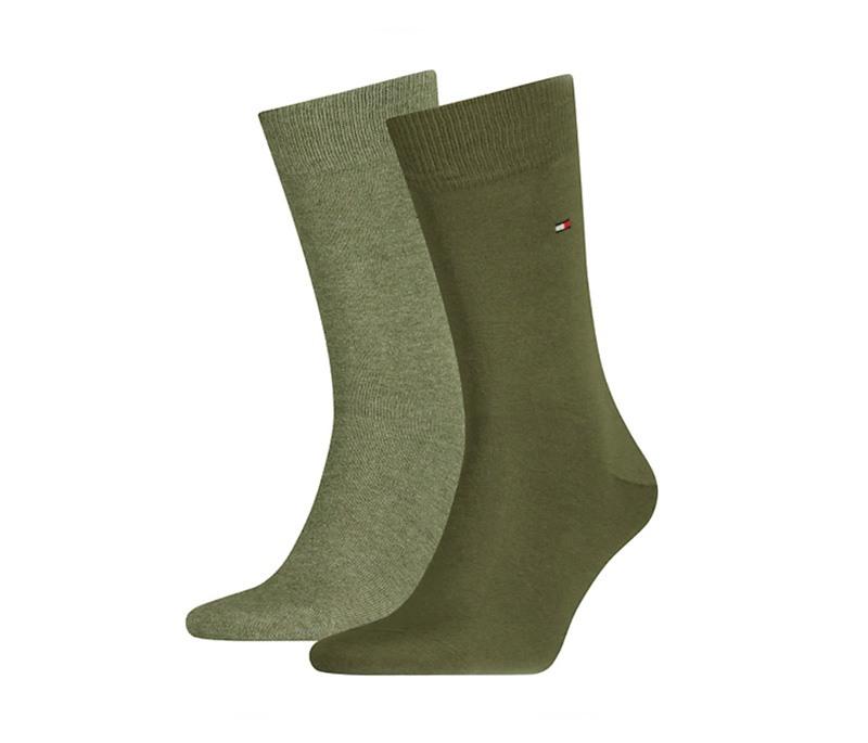 2 Pack Calcetines Tommy en verde oliva