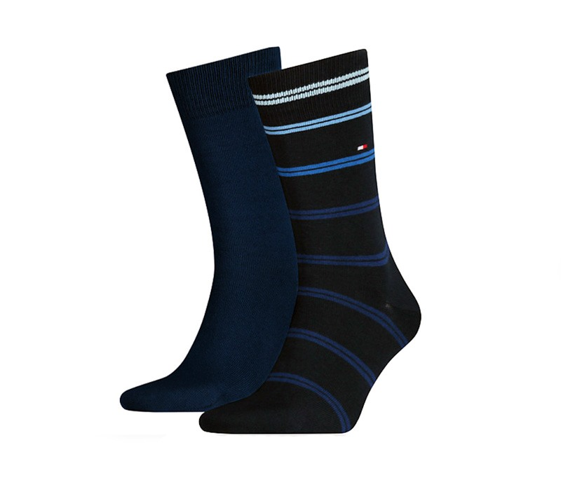 2 Pack Calcetines Tommy stripes marino
