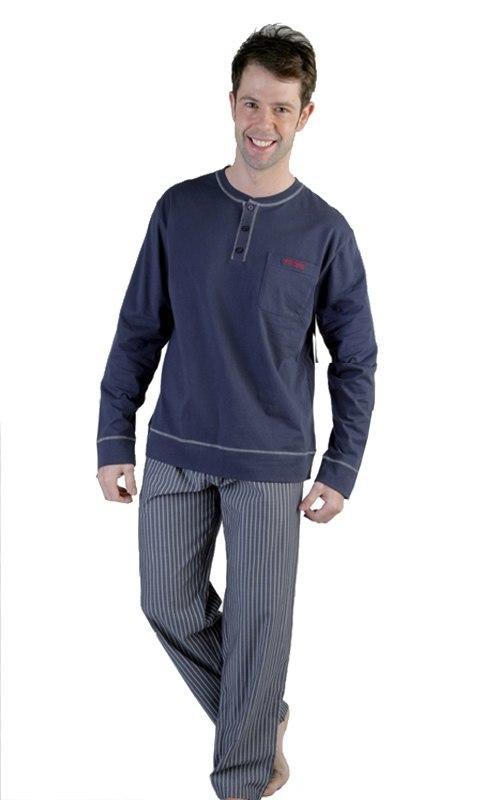 Pijama Pettrus Man en Azul liso
