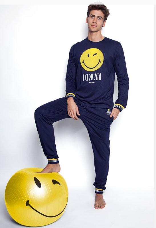 Pijama Smiley World Okay con puños