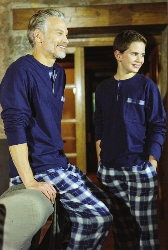 Pijama Guasch de Invierno marino