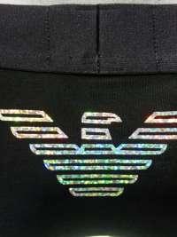 Boxer Emporio Armani Holograma Negro
