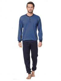 T.E. Pijama Alpina afelpado con bolsillo en el pecho y puños