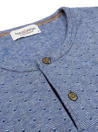 Pijama Massana con topitos en azul y tapeta. Talla Especial 3XL