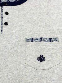 T.E. - Pijama Guasch de Algodón corto en gris de punto