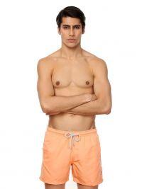 Bañador John Frank liso en naranja melocotón