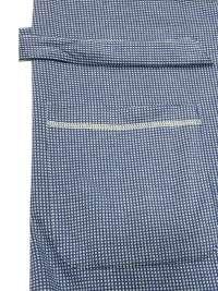 Bata Soy Underwear Clásica Azul con Topitos