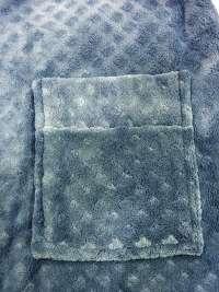 Bata Polar Hombre Pettrus Azul Cobalto