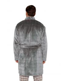 Bata Polar Muydemi para hombre jacquard en gris