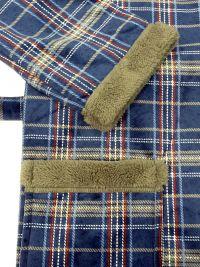 Bata Polar Soy Underwear a cuadros en azul