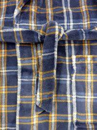 Bata Soy Underwear a cuadros en azul de Coralina