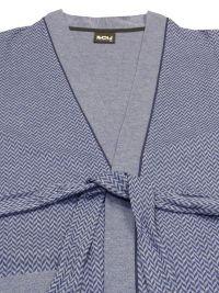 Bata de verano Soy Underwear cruzada en Azul Chevron