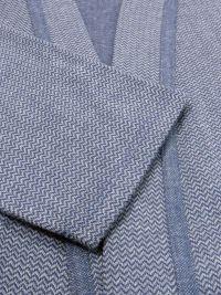 Bata Barandi de entretiempo espigilla en azul