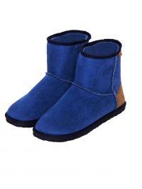 Zapatillas Muydemi tipo botín azules para estar por casa