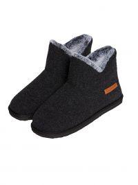 Zapatillas Muydemi tipo botín en gris para estar por casa