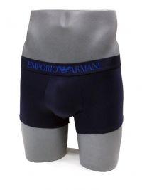 Boxer Emporio Armani de microfibra en marino