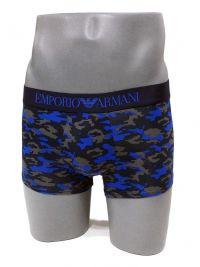 Boxer Emporio Armani Microfibra camuflaje en azul